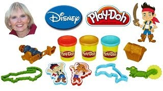 ♥♥ Play-doh Treasure Creations Set Featuring Jake And The Never Land Pirates
