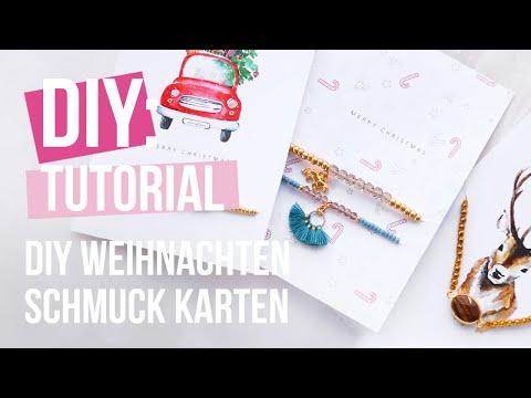Schmuck machen: DIY Schmuck Karten für Weihnachten ♡ DIY