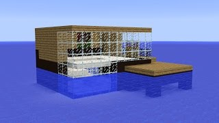Minecraft - How to build a house on water