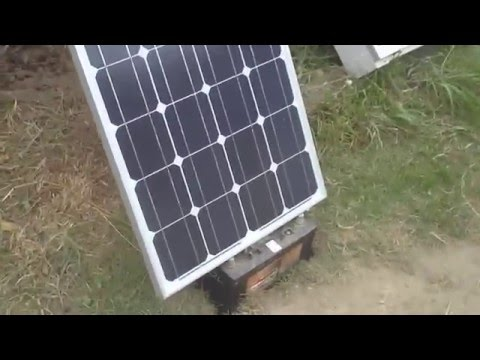 DAY 396 OFF THE GRID - *Q&D Ground Mount Solar Panel*