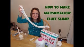 How to Make Marshmallow Fluff Slime!