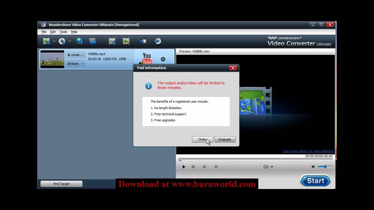 how to add wondershare video converter stills