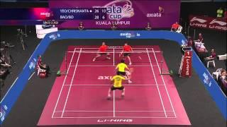 Round 2 - MD (Highlight) -Terry Yeo/D.B.Chrisnanta(SIN) / Bao CL./Zheng B.(ASIA) -Axiata Cup 2013