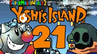 Let's Play Yoshis Island Part 21: Fiese Scrolling Lava-Eis-Höhle