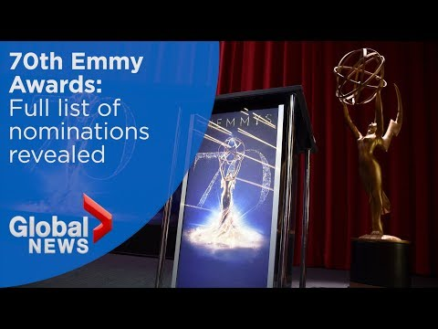 2018 Emmy nominations announced in Hollywood