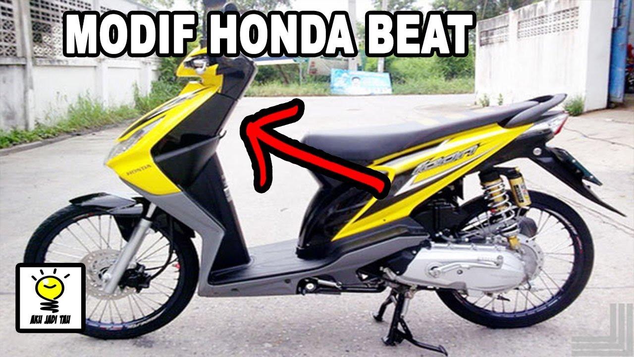 10 Modifikasi Motor Honda Beat Murah Dan Keren Youtube