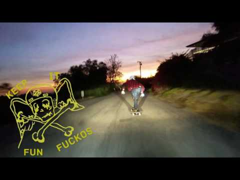 downhill longboarding: dusk run