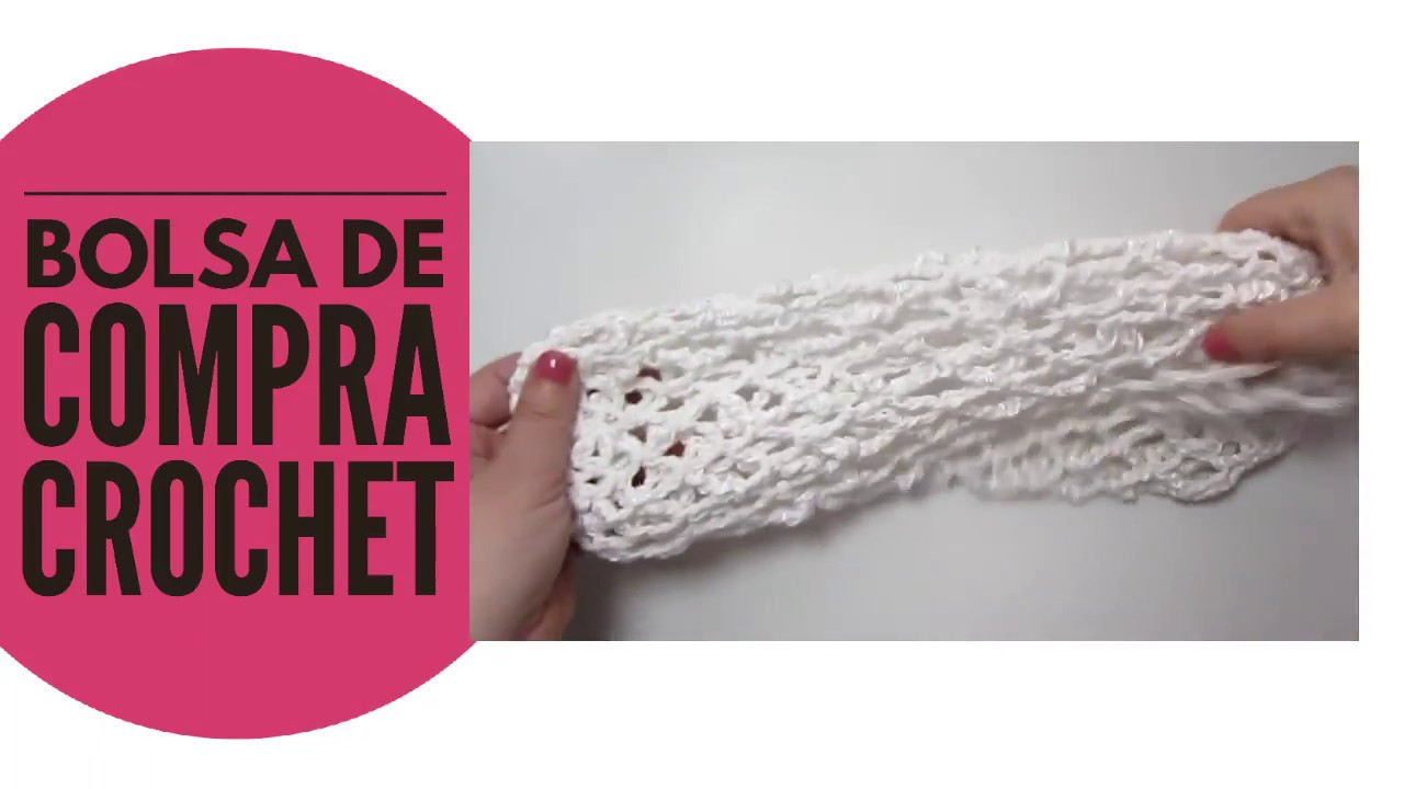 Bolsa de compra crochet para el mercado. - YouTube