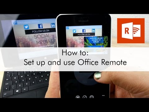 How to use Microsoft Office Remote App - YouTube