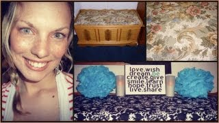 How To Reupholster A Hope Chest (no Sew)