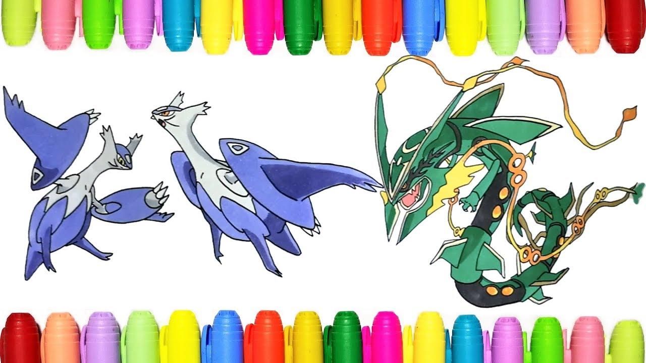Pokemon Coloring Pages Mega Latias Latios And Mega Rayquaza
