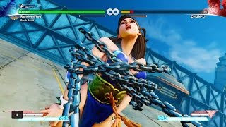 Street Fighter V All Critical Art Finishes Done On Chun Li Battle Outfit Color 5