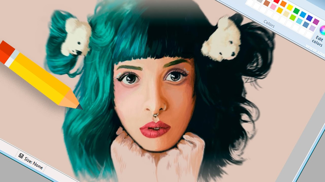Dibujo Realista En Paint Melanie Martinez Happip Youtube