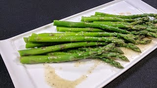 Pan-Steamed Asparagus with Buтter Dressing