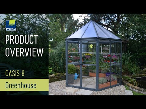 Palram Oasis Hexagonal Greenhouse - Anthracite - W8ft x D8ft