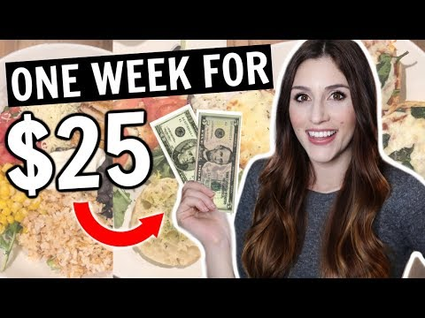 A Week Of Dinners For Only $25 CHALLENGE