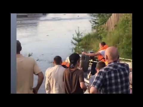 Дома плывут.Затопление в Тулуне.Иркутская область.