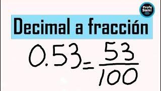 Como convertir decimales a fracciones y viceversa - El mejor video explicado paso a paso