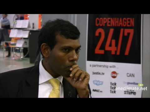President Nasheed of the Maldives talks to OneClimate at COP15 in Copenhagen - 2