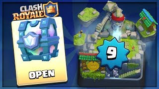 ARENA 10 ''HOG MOUNTAIN'' LEVEL 9 :: Clash Royale :: SPECIAL LEGENDARY CHEST OPENING!