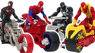 Ultimate Spider-Man Web Warriors Motorcycle and ATV! Go! | DuDuPopTOY
