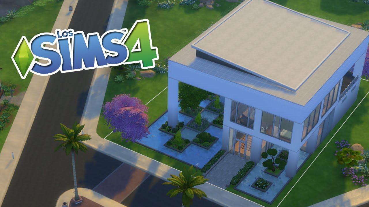 Una casa moderna y minimalista envidiable los sims 4 for Casas modernas sims 4 paso a paso