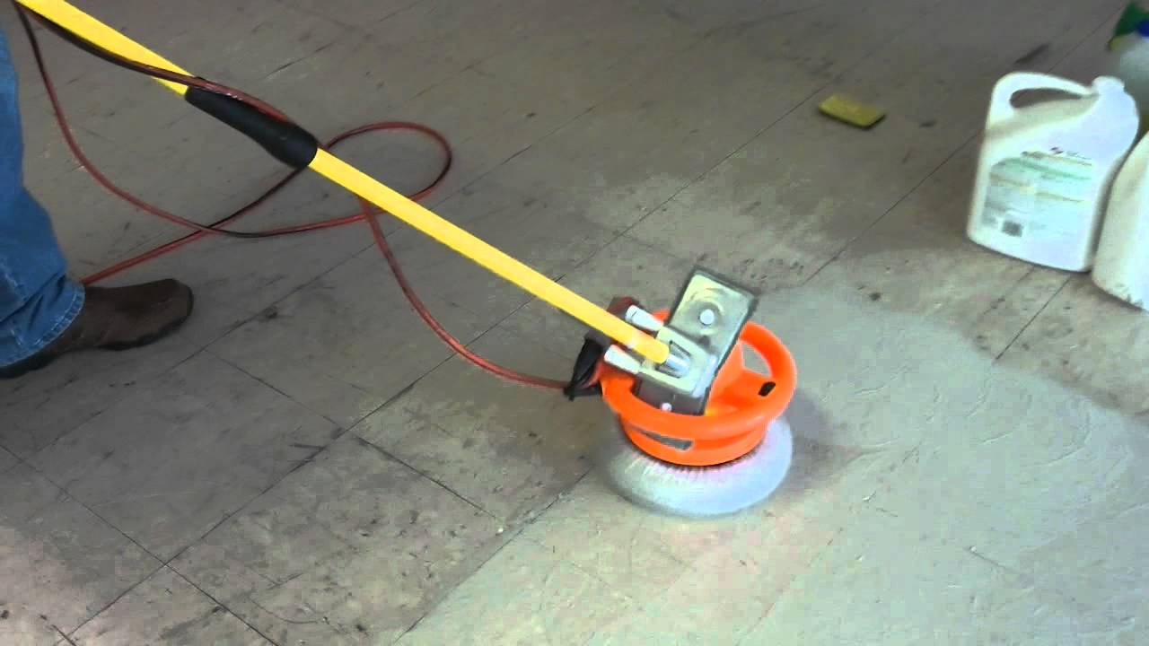 Redneck floor cleaning machine youtube for Scrubbing concrete floors