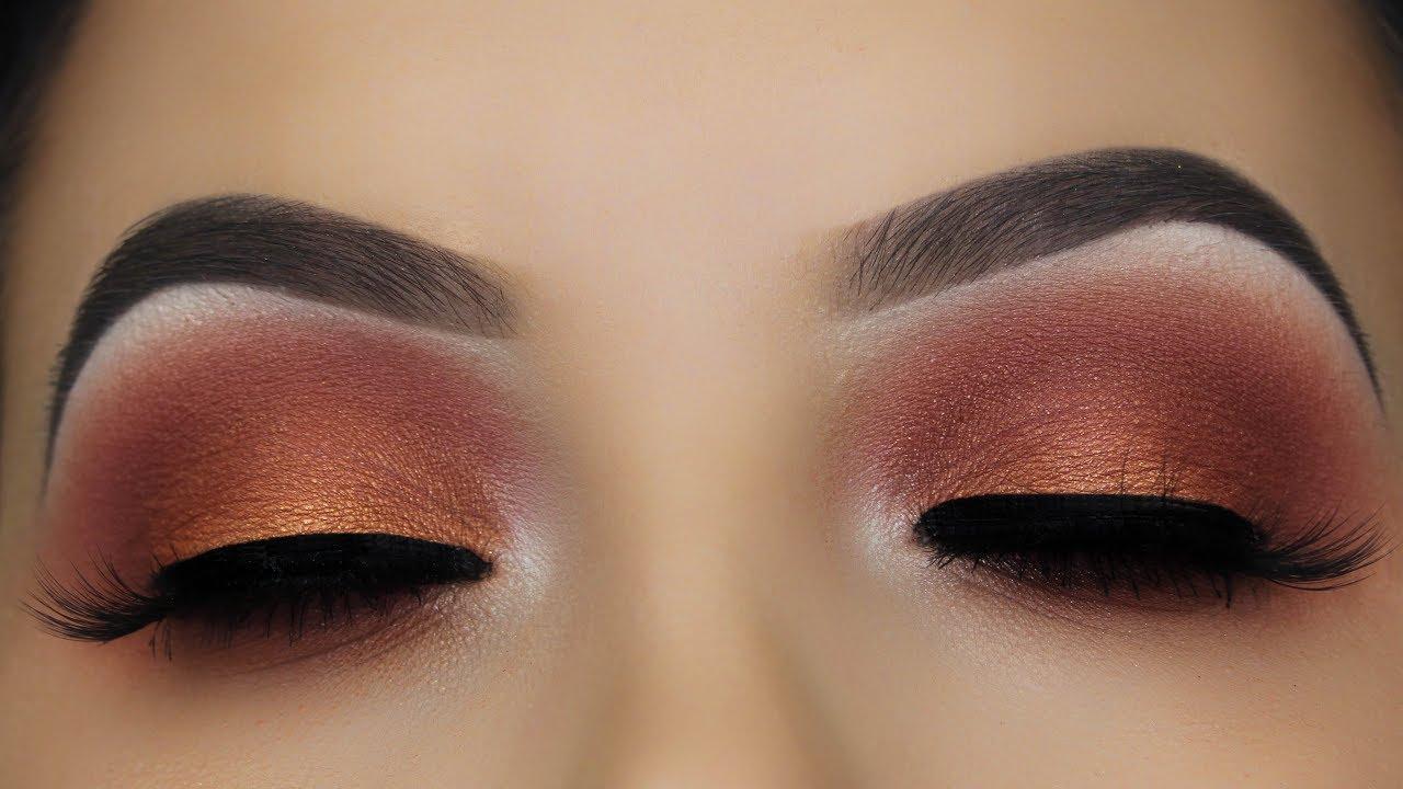 daytime brown smokey eye makeup tutorial
