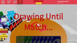 Roblox Uno With my Friend!