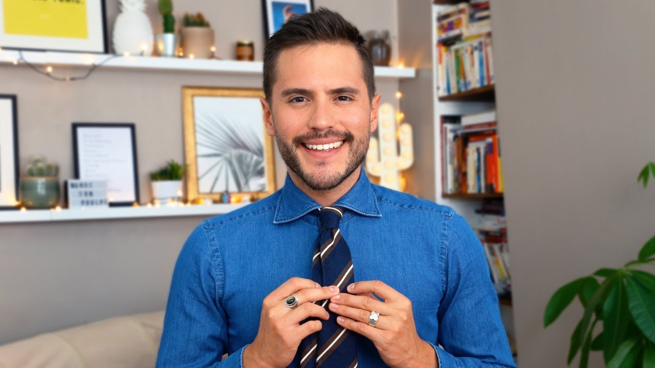 comment faire un noeud de cravate simple en 1 minute. Black Bedroom Furniture Sets. Home Design Ideas