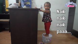 KEISHA gangguin Papa kerja   Keisha bantu mama di dapur   salimbrit