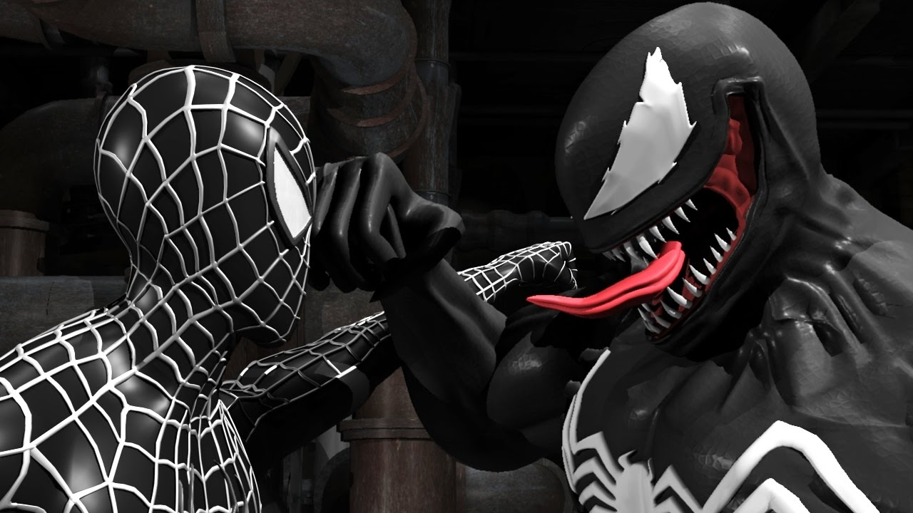 Black Spiderman Vs Venom