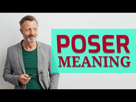 Poser | Definition of poser