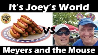 ITS ON!! Its Joey's World and Meyers and the Mouse having a Hot Dog Eating Contest.