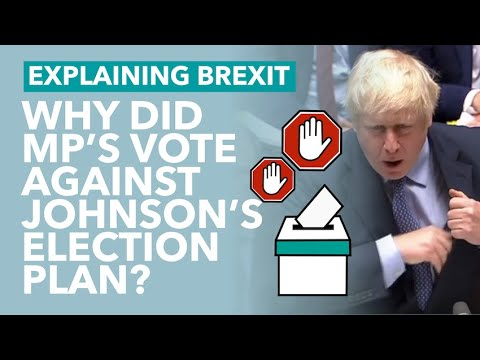 MPs Reject Johnson's Election Plans... Why? - Brexit Explained