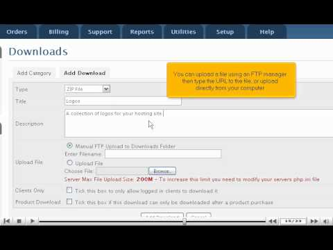 How to manage downloads using WHMCS - WHMCS Tutorials