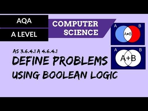 AQA A'Level Define problems using Boolean logic