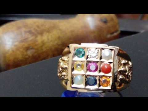 Latest Gold Navaratna Rings Designs