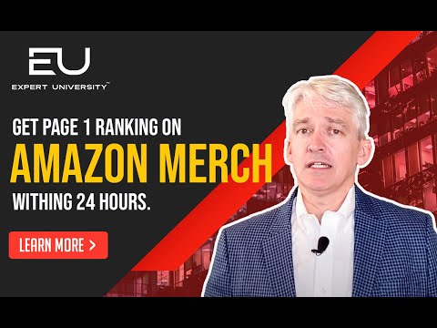 Get Page 1 Ranking on Amazon Merch within 24 hours - Expert University