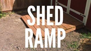 Custom Shed Ramp #0022