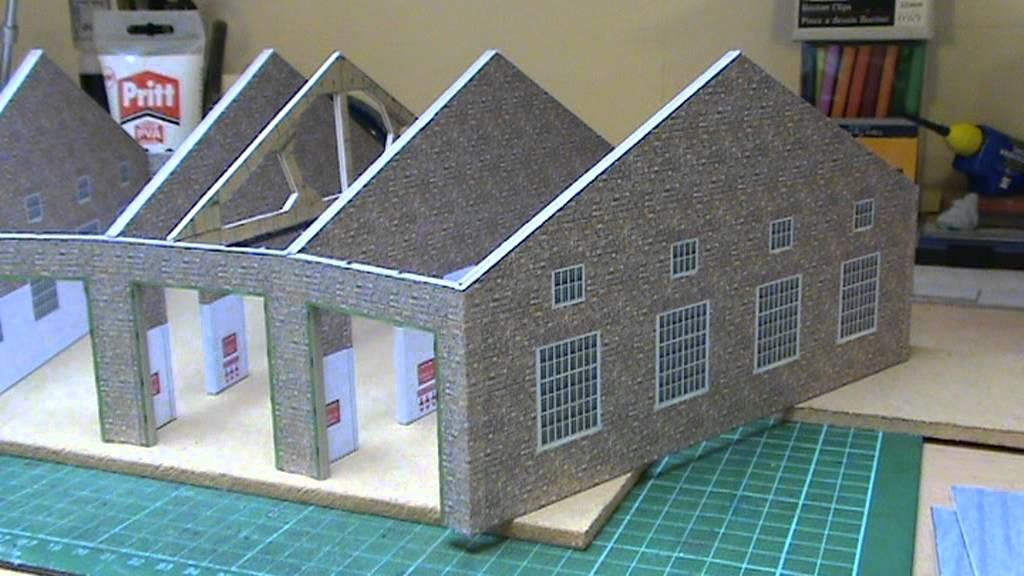 Superb image for free printable model railway buildings