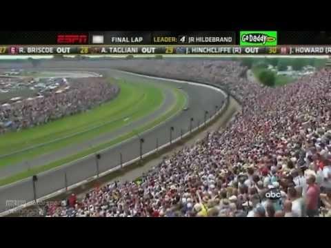 Dan Wheldon wins 2011 Indy 500 CRAZY FINISH & wreck JR Hildebrand crashes in FINAL CORNER