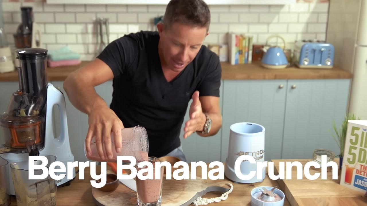 Berry Banana Crunch Jason Vale Banana Smoothie Recipe