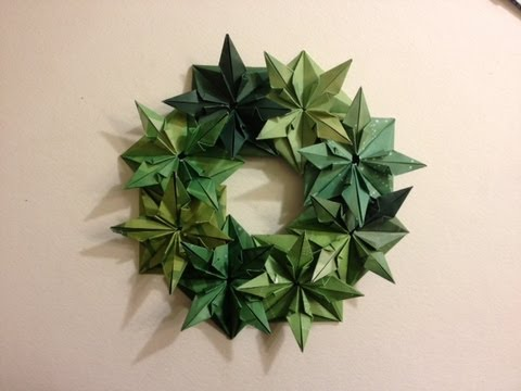 Wreath 25 Days of Origami Day 17 - YouTube