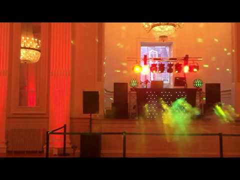Set up used at the Assembly Rooms in Edinburgh