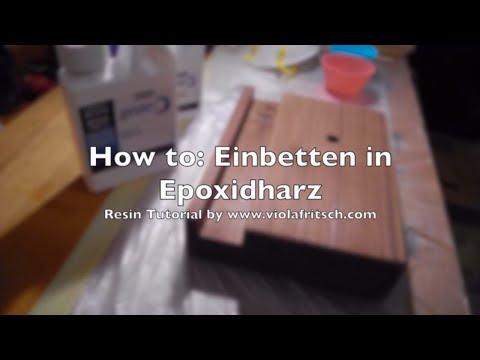 how to epoxidharz tutorial gie en in holz f r beginners. Black Bedroom Furniture Sets. Home Design Ideas