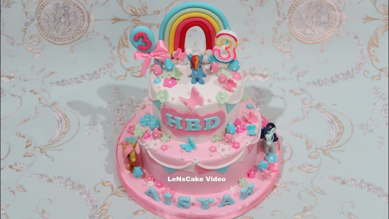 HOW TO MAKE BIRTHDAY CAKE MY LITTLE PONY GRADED YouTube