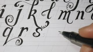 LOWER CASE FANCY LETTERS - How To Prepare The Lines Before drawing the letters