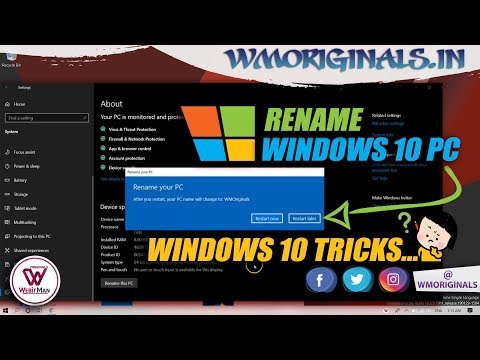 How to Rename Windows 10 PC | Windows 10 Tips And Tricks 2019 - WM Originals
