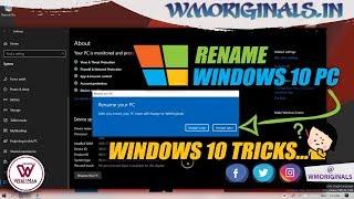 How to Rename Windows 10 PC | Windows 10 Tips And Tricks 2019 - WM Originals